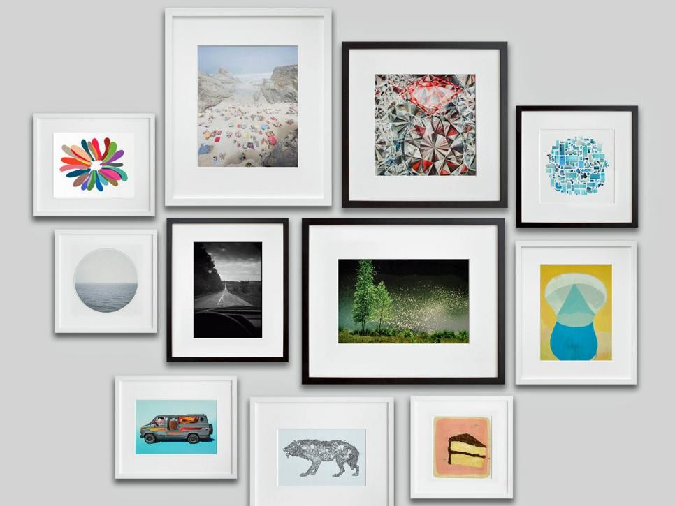 gallery wall white modern