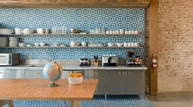 Encaustic tile modern kitchen design