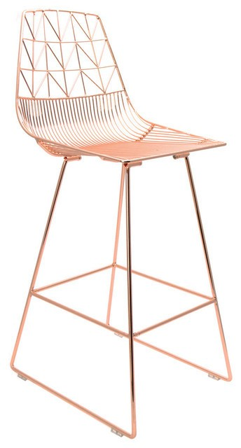 copper wire counter stool