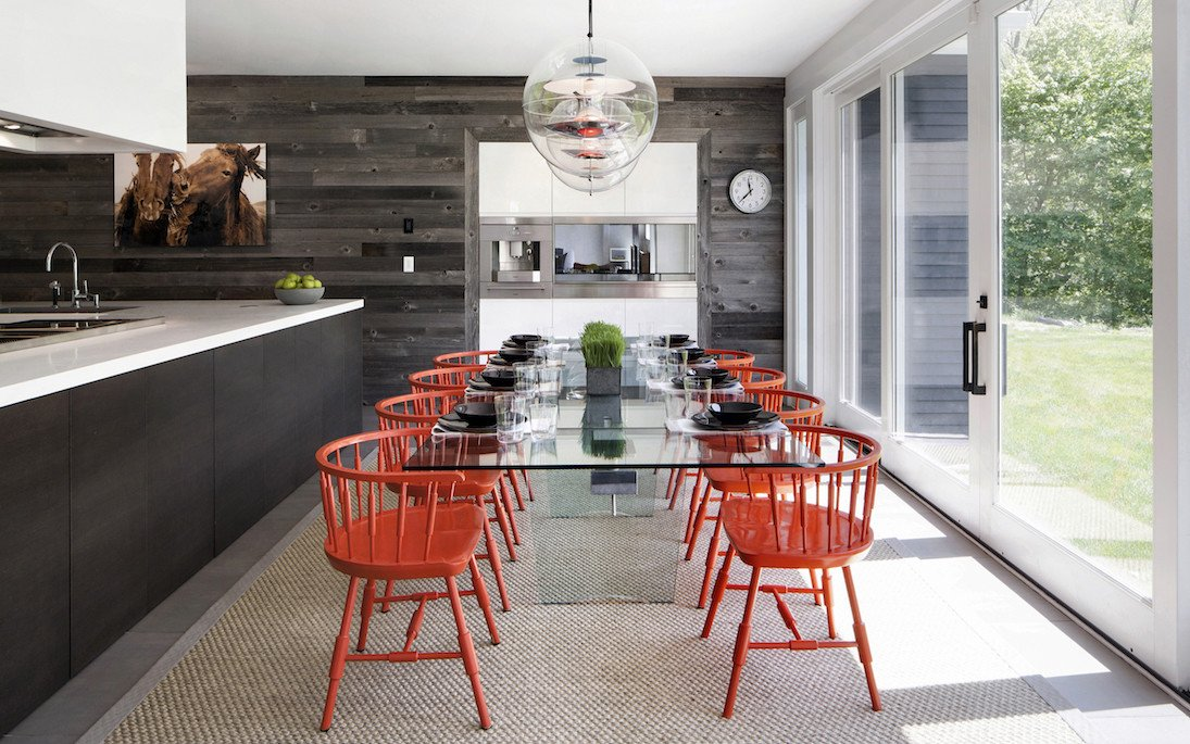 modern dining room remodel in Greenwich CT