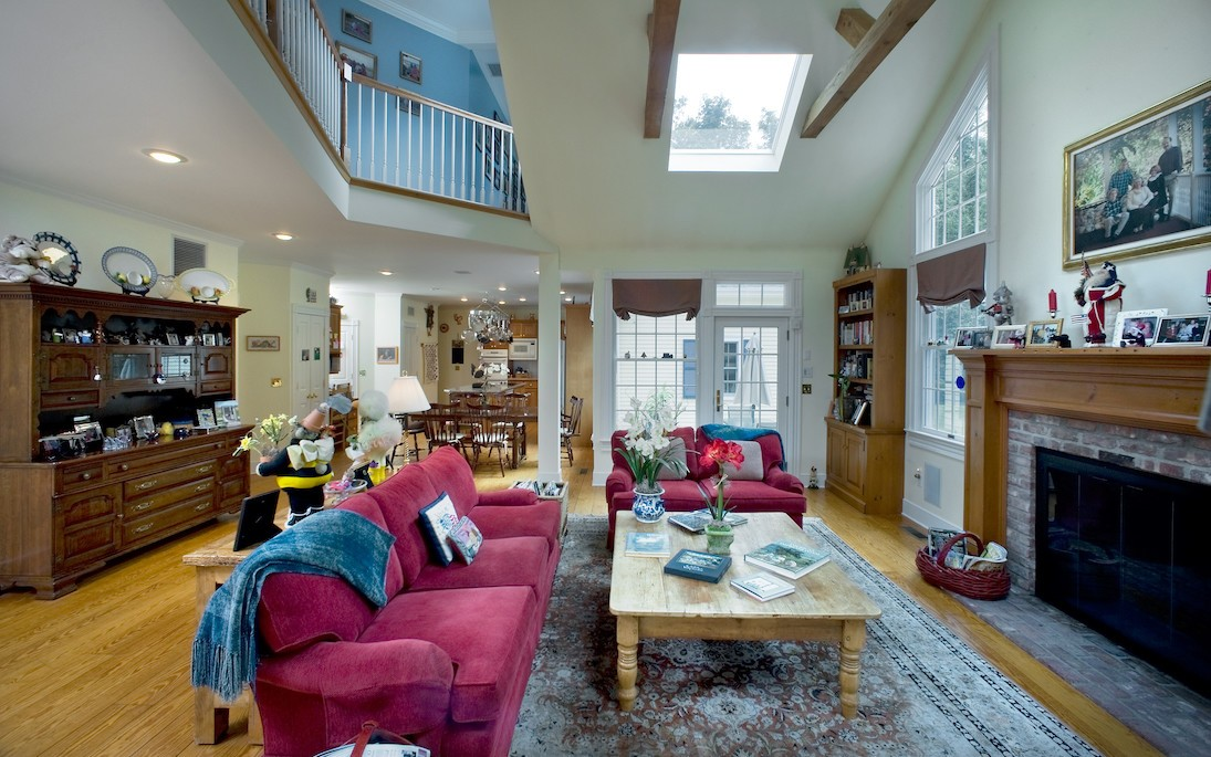 modern living room makeover in Greenwich CT