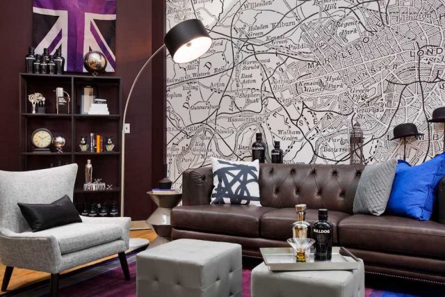 masculine tufted leather sofa