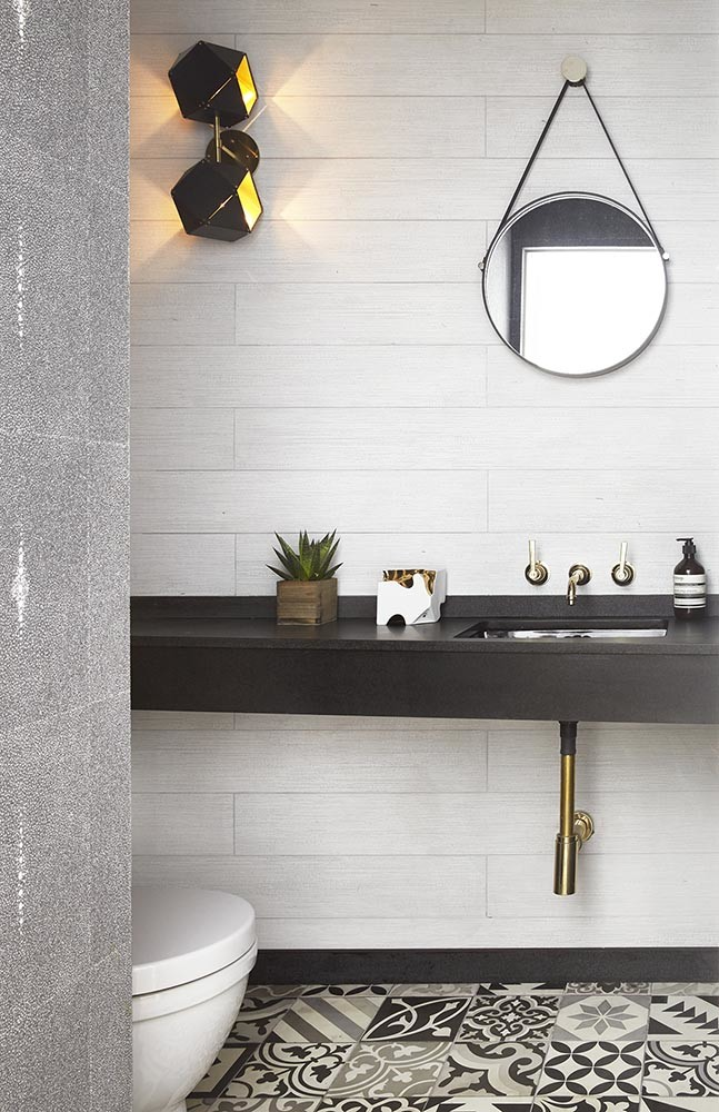 light bathroom dark countertops