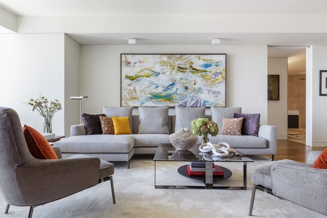 And When Styling A Grey Sofa, Make Sure That Your Accesories Reference The  Colors In Your Artwork. Notice In This San Francisco Luxury ...