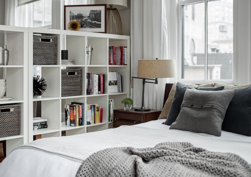furniture arrangement bookshelves