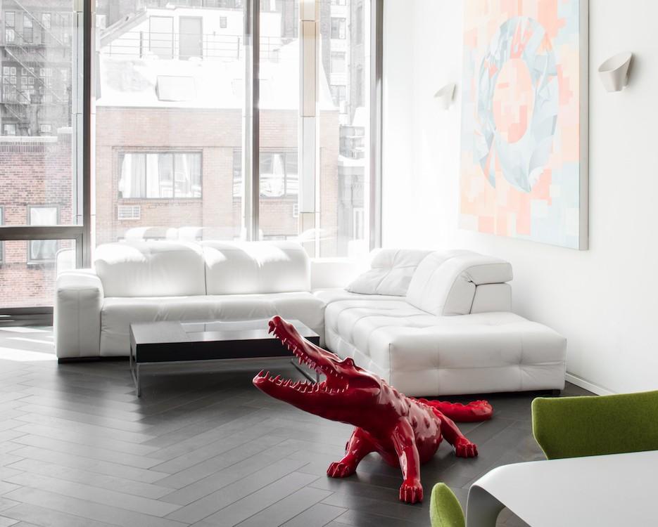 furniture arrangement heaviest pieces