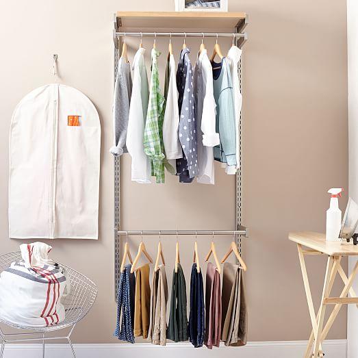 small closet second rail