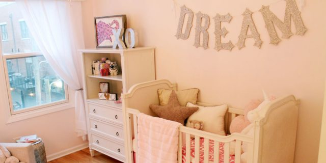 decorate a nursery crib