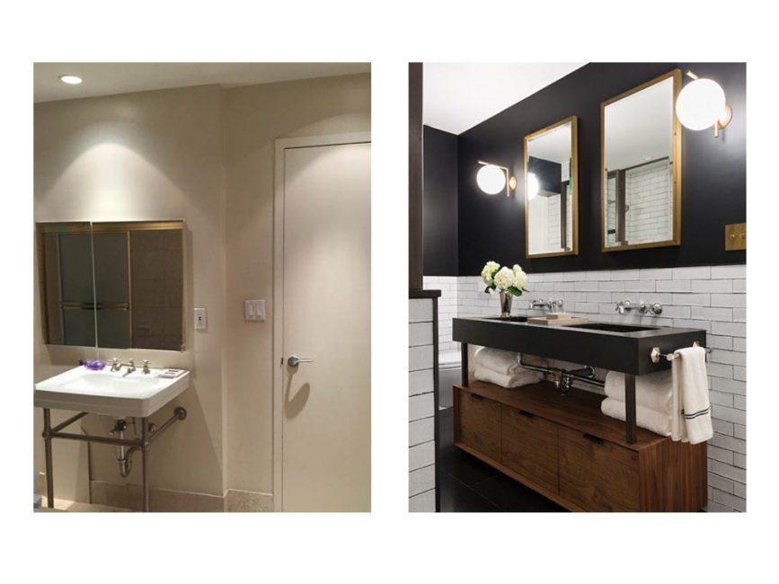 soho loft remodel bathroom