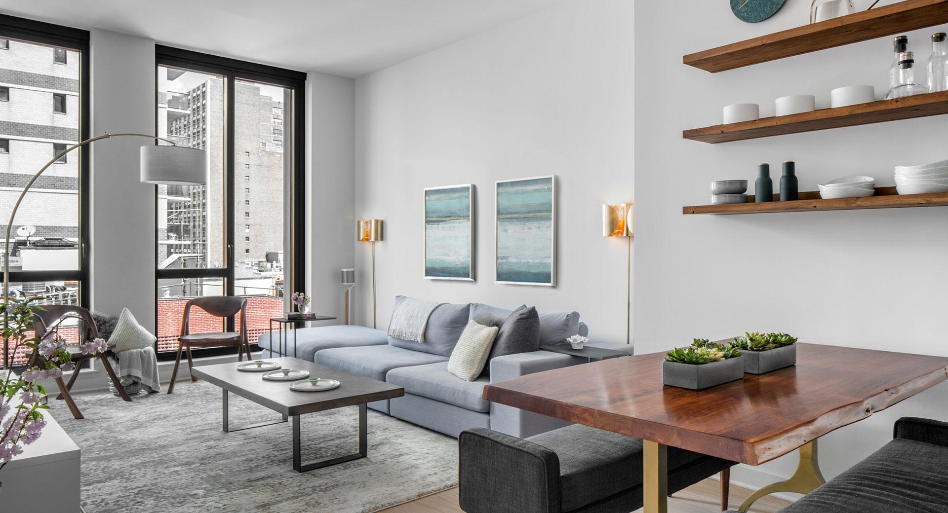 Grey Living Room Design After