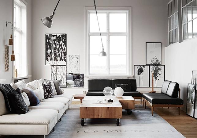 Modern Living Room Interior Design Art