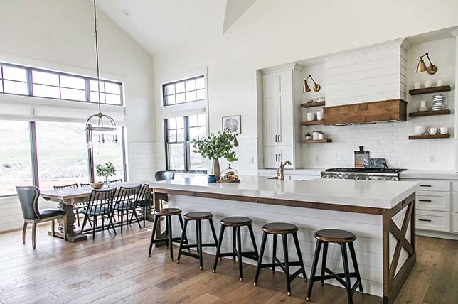 modern farmhouse interior definition