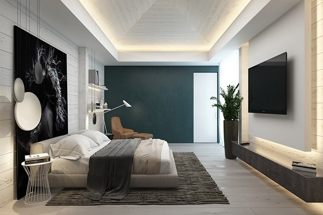 dark-accent-wall-bedrooms-with-brilliant-walls | Décor Aid
