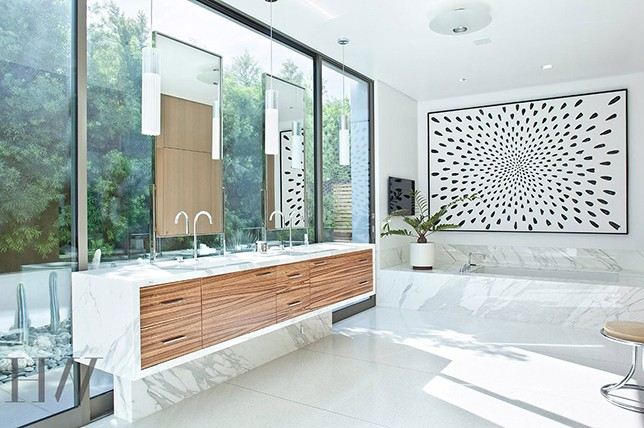 inspiring mid century modern bathroom interior design