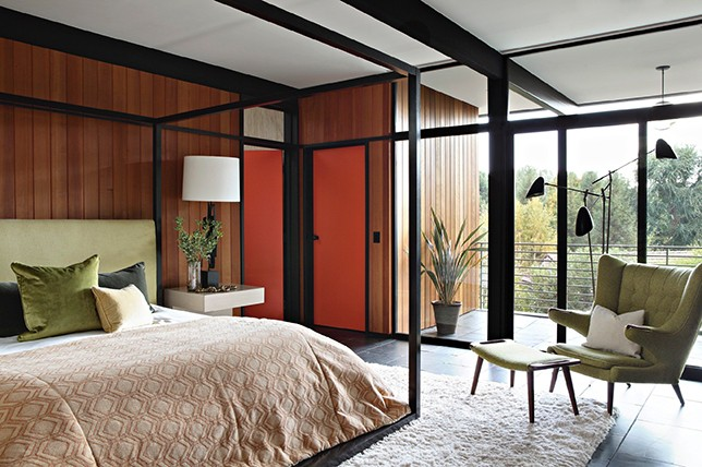 mid century modern bedroom interior design