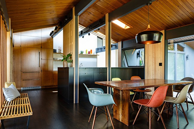 mid century modern kitchen interior design
