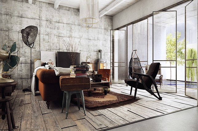 8 Ways To Design A Rustic Industrial Living Room Decor Aid