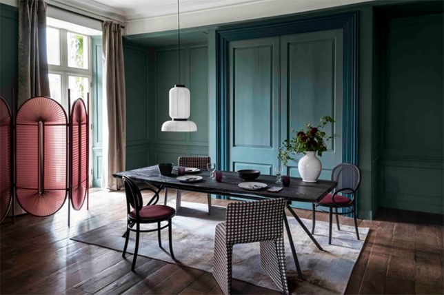 Contemporary Green Interior Wall Paint Colors