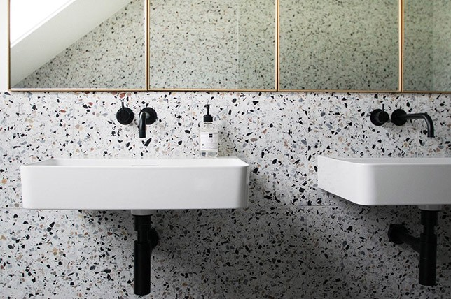 modern terrazzo bathroom 2018 interior design trends