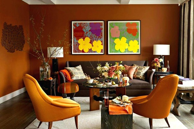 Burnt Orange Living Room Paint Colors