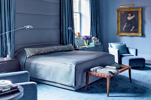 deep blue bedroom paint colors