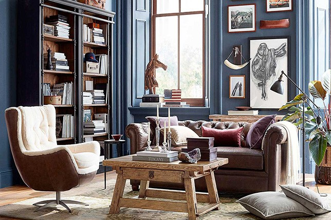 navy living room paint colors