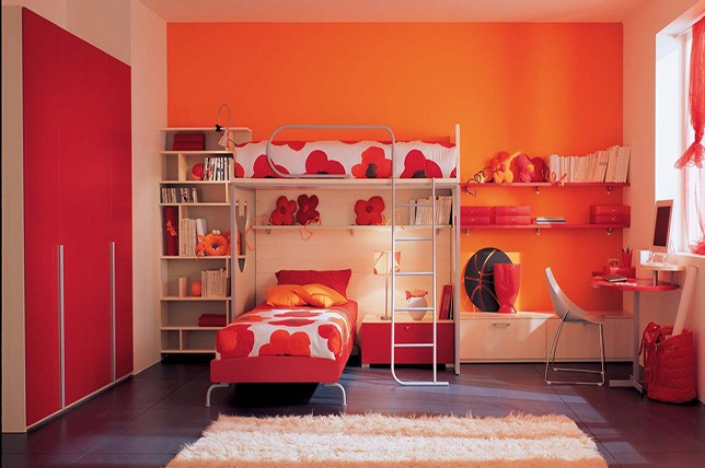 orange bedroom paint colors