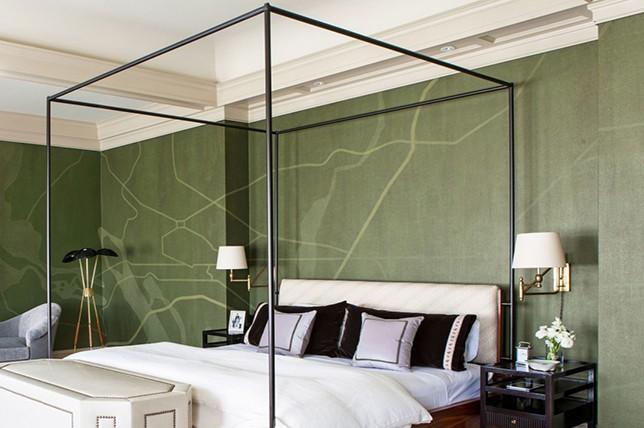 minimal modern canopy bed