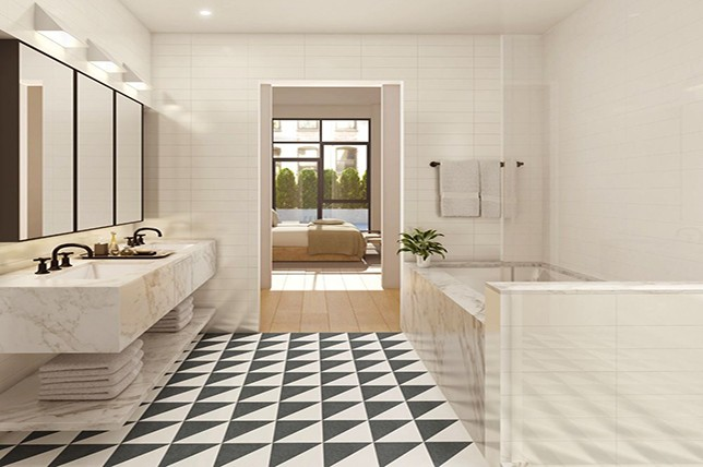 stylish heated bathroom floor tiles