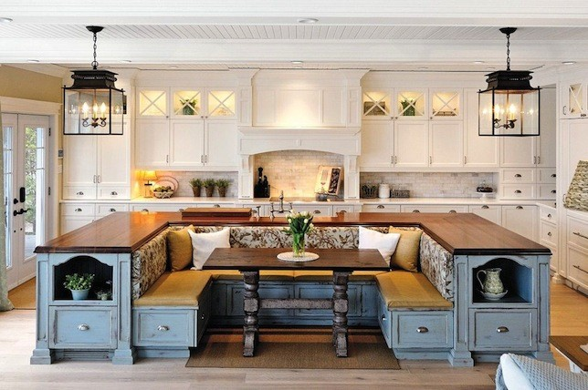 wrap around kitchen island