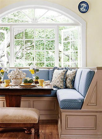 patterned kitchen Banquette