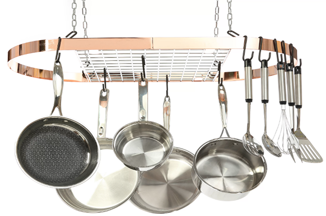 hanging-pot-rack-kitchen-decor-ideas | Décor Aid