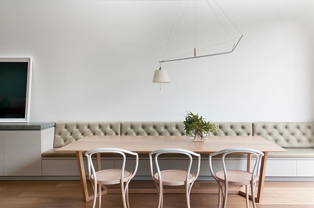 neutral kitchen Banquette