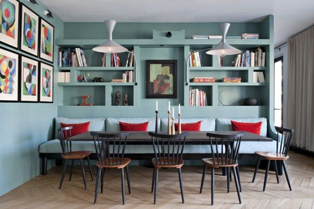 pastel kitchen Banquette