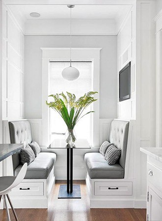modern kitchen Banquette