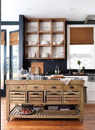 modern kitchen wall decor dark walls