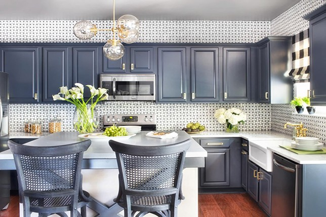 modern kitchen wall decor extended backsplash