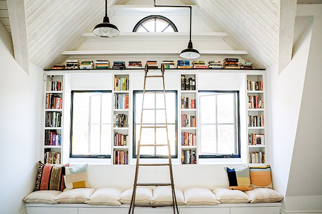 alcove home library ideas