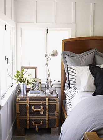 stacked suitcases bedroom storage ideas