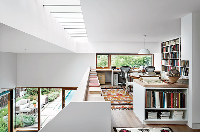 neutral home library ideas