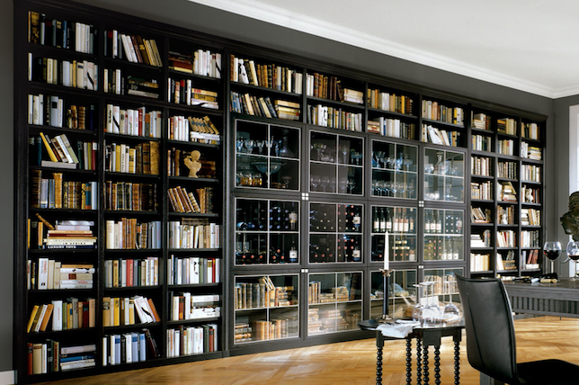 wall to wall home library ideas