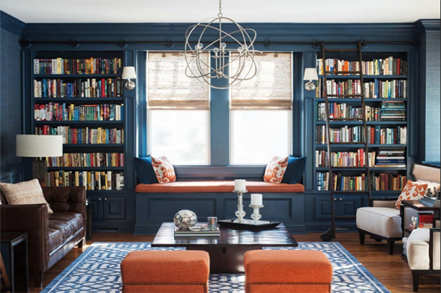 chic home library ideas