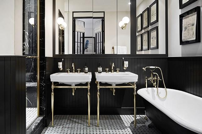 black bathroom paint colors