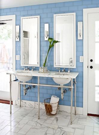 dusty blue bathroom paint colors