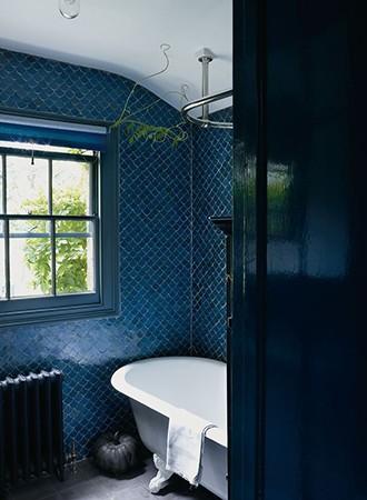navy blue bathroom paint colors