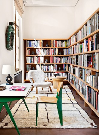 mid century modern home library ideas