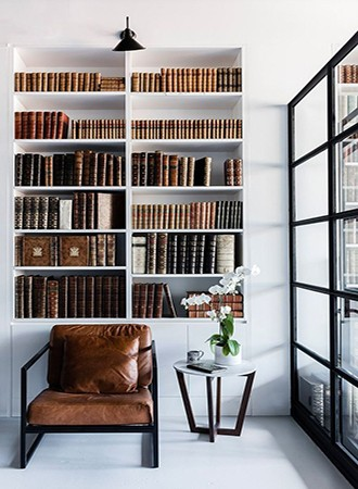 recessed home library ideas