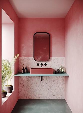 Pink Ombre Bathroom Paint Colors