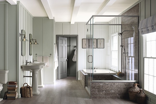 sage green bathroom paint colors