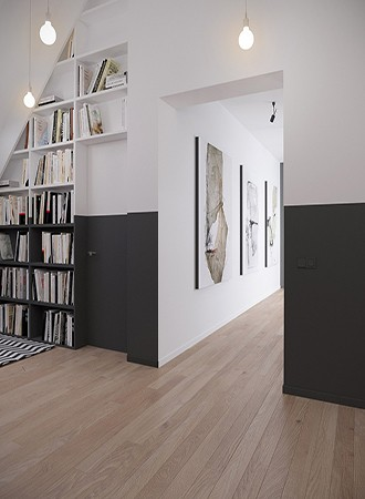 stairwell home library ideas
